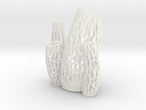 Porifera Vase / Holder Wired (Big) in White Processed Versatile Plastic