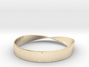 Möbius Bracelet Bangle in 14K Yellow Gold