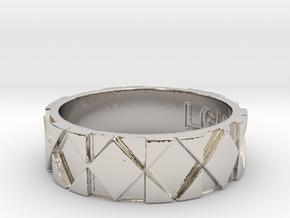 Futuristic Rhombus Ring Size 11 in Platinum