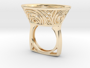 Constantina Contemporary - nest ring  in 14k Gold Plated Brass