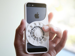 Rotary Phone Case for iPhone 5 / 5s in White Strong & Flexible Polished