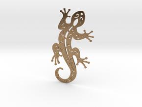 Gecko  in Natural Brass