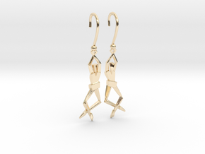 HUMANIS ALPHA ::: EARRINGS in 14K Yellow Gold