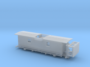 GTR/ GTW Steel UF Caboose HO Scale in Frosted Ultra Detail