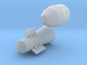 1:200 Tsar Bomb in Smooth Fine Detail Plastic