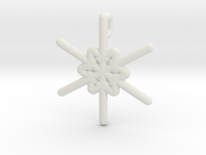 Snowflakes Series III: No. 24 in White Natural Versatile Plastic