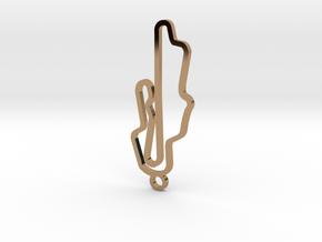L'autodromo del Mugello Key Chain in Polished Brass