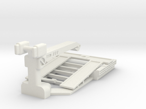 AC05A S43 Tow Truck Bed (28mm) in White Natural Versatile Plastic