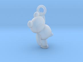 Teddy Bear Pendant - 3cm in Smoothest Fine Detail Plastic