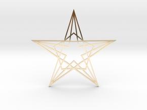 Arabesque: Star in 14k Gold Plated Brass