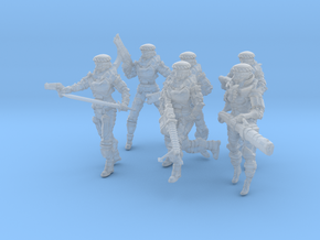 Soldier Squad Full, 28-32mm Scale in Frosted Ultra Detail
