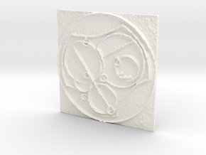 Gallifreyan  in White Strong & Flexible Polished