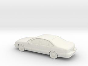1/87 1994-96 Chevrolet Impala in White Natural Versatile Plastic