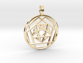 CRYSTAL PERSPECTIVE in 14K Yellow Gold