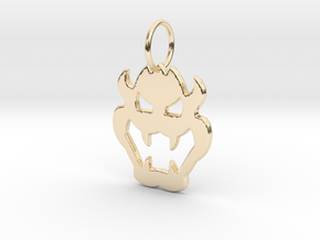Bowser Pendant in 14K Yellow Gold