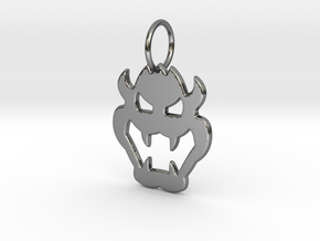 Bowser Pendant in Fine Detail Polished Silver