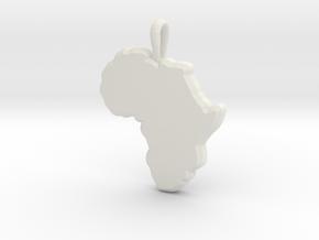 Mapa Mudo de Africa in White Natural Versatile Plastic