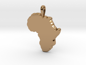 Mapa Mudo de Africa in Polished Brass