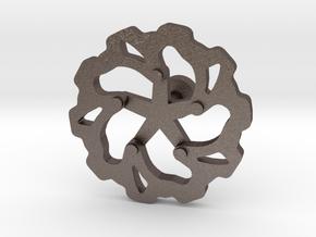 Moto: Rotorlink in Polished Bronzed Silver Steel