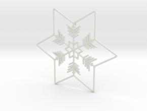 Snowflakes Series II: No. 1 in White Natural Versatile Plastic