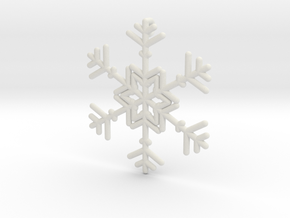 Snowflakes Series II: No. 10 in White Natural Versatile Plastic