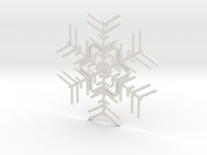 Snowflakes Series I: No. 2 in White Natural Versatile Plastic