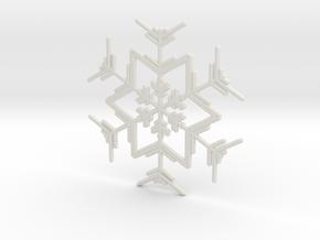 Snowflakes Series I: No. 4 in White Natural Versatile Plastic