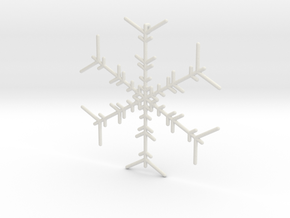 Snowflakes Series I: No. 6 in White Natural Versatile Plastic