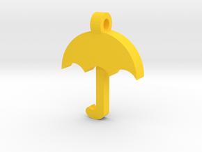 Umbrella Pendant in Yellow Processed Versatile Plastic