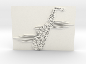 Saxophone in White Strong & Flexible Polished