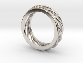 ring 1 in Rhodium Plated Brass