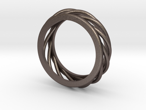ring 1 in Polished Bronzed Silver Steel