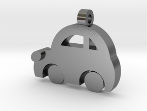 Minicooper Pendant in Polished Silver