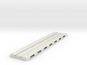 P-65stw-straight-long-110-75-w-1a in White Natural Versatile Plastic