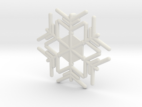 Snowflakes Series III: No. 11 in White Natural Versatile Plastic