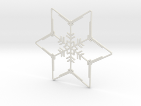Snowflakes Series III: No. 2 in White Natural Versatile Plastic