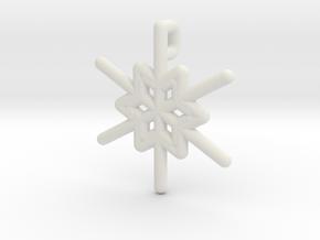 Snowflakes Series III: No. 23 in White Natural Versatile Plastic