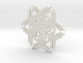 Snowflakes Series III: No. 9 in White Natural Versatile Plastic