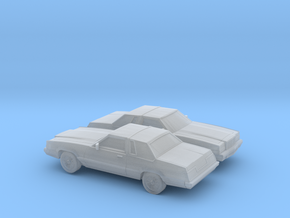 1/160 2X1980 Ford Thunderbird in Smooth Fine Detail Plastic