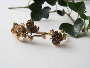 Cherry Blossom Bracelet in Polished Brass