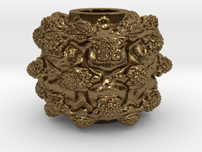 MandelBulb Power8 OM Particle in Polished Bronze