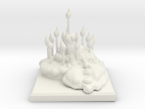 Pie Monument in White Natural Versatile Plastic