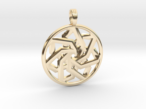 PEACEFUL CLARITY in 14k Gold Plated Brass