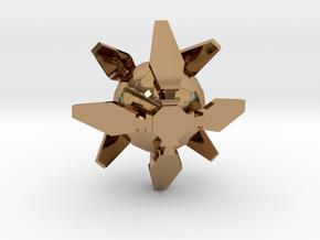 Ingress Portal Shield Pendant (1 inch)  in Polished Brass