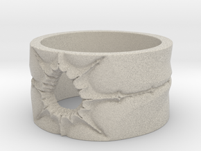 Mandelbrot Ring 2 Ring Size 8.25 in Natural Sandstone
