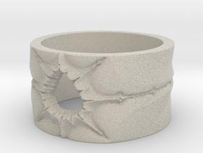 Mandelbrot Ring 2 Ring Size 8.25 in Natural Sandstone
