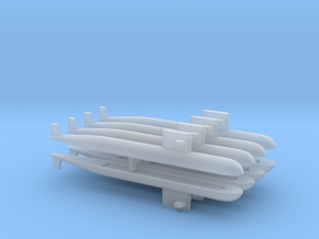 PLA[N] 093 Submarine x 8, 1/6000 in Smooth Fine Detail Plastic