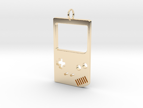 Gameboy in 14k Gold Plated Brass
