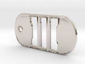 Call of Duty Black Ops 3 Dog Tag in Platinum