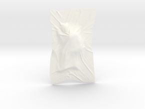 Shroud shape penholder 006 in White Processed Versatile Plastic